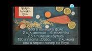 Пълнозърнест хляб, пилешка супа, пуешки скалопини с тиквички - Бон Апети (04.04.2013)