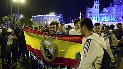 Spain: Real Madrid fans celebrate 11th Champions League victory