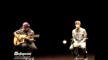 Justin Bieber Singing Baby Acoustic 2011
