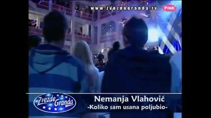 Nemanja Vlahović - Koliko sam usana poljubio (Zvezde Granda 2010_2011 - Emisija 17 - 29.01.2011)