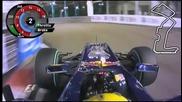 Mark Webber Hotlap Singapore 2010