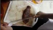 Начин за рязане на пържола
