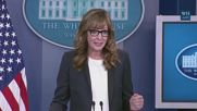 USA: West Wing's 'C.J. Cregg' crashes White House press briefing