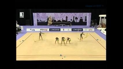 Ансамбълът ни по художествена гимнастика стана световен шампион в многобоя