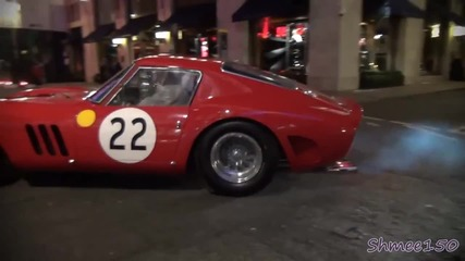 Ferrari 250 Gto - Startup and Overview on street! Nick Mason from Pink Floyd