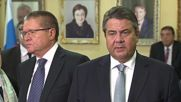 Russia: Ulyukaev meets German Vice-Chancellor to talk trade and investment