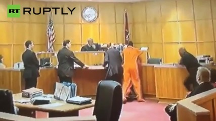 Murder Suspect Attacked by Court Witness in Front of Judge