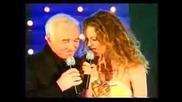 Retiens La Nuit - Vanessa Paradis Charles Aznavour (превод)