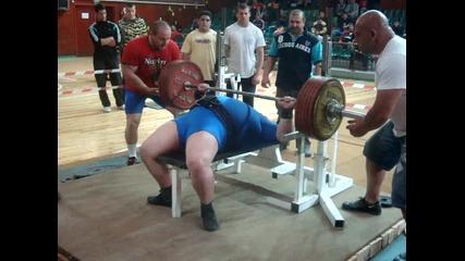 Андрей Ташев вдигна най - тежката щанга в България - 307, 5 кг!