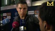 Kristiano Ronaldo se oplakva ot pluhove