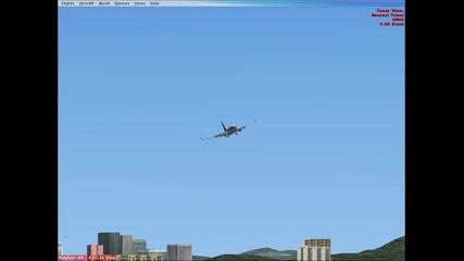 boeing 737 - 800 landing at kai tak