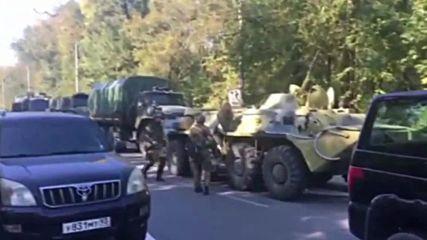 Russia: Military vehicles at scene of Crimea college attack