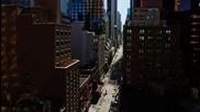 Удивителна Гледка Над Манхатън На Зaбързан Кадър