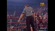 WWF Скалата Срещу Кърт Енгъл И Крис Джерико - Хандикап Мач - RAW is WAR 11.26.01 **HQ**