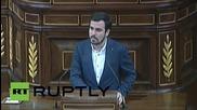 Spain: United Left leader slams Rajoy and EU over Greece