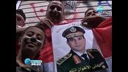 Хиляди празнуват свалянето от власт на египетския президент Морси
