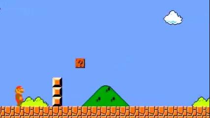 Super Mario със оръжието от Portal