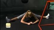 Репортаж за здравите тренировки на дъщерята на Жан - Клод Ван Дам - Бианка Брий