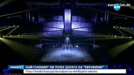 """БЕЗПРЕЦЕДЕНТЕН УСПЕХ: Поли Генова - четвърта на """"Евровизия"""""""
