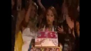 Miley Cyrus Blowing Out Candles Of Birthda