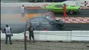 Alfa Romeo Gtv6 with v8 engine - drag race