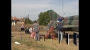 Изтребител МиГ-21 бе поставен като паметник в село Равнец