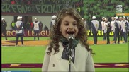 Крисия Тодорова пее Химна & Моя страна, моя България