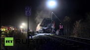 Камион и влак се сблъскаха в Бавария
