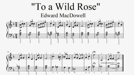"""Edward MacDowell - To a Wild Rose"" - Piano sheet music (by Tatiana Hyusein)"