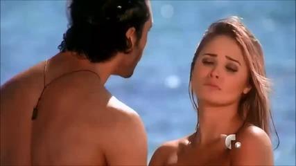Flavio y Irina en la playa