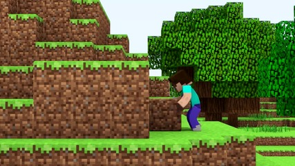 Minecraft Steve - Thinking Differently