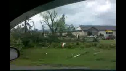 поражения след торнадото 17 юни 2010 (wadena)