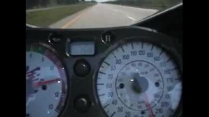 Над 320км/ч. със Suzuki Hayabusa
