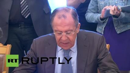 Русия: Лавров се среща с бившия Ливански президент Харири да обсъдят кризата в Средния изток