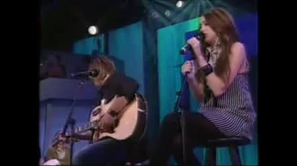 Billy Ray Cyrus and Miley Cyrus - Ready, Set, Don t Go (live)
