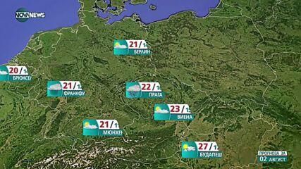 Прогноза за времето на NOVA NEWS (01.08.2021 – 20:00)