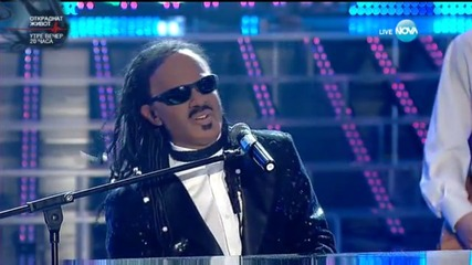 Ненчо Балабанов като Stevie Wonder -