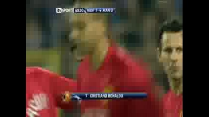 Д.киев - Манчестър Юнайтед 1 - 4 ( Роналдо )