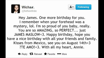 Birthday wishes to James Maslow!