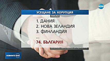 Усещането за корупция в България - най-силно в ЕС