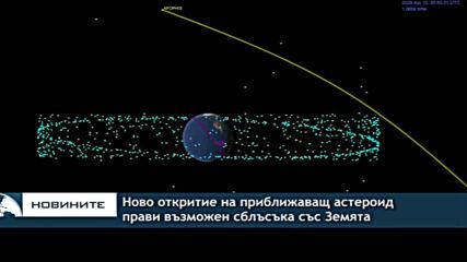 Ново откритие на приближаващ астероид прави възможен сблъсъка със Земята