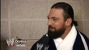 Damien Sandow is quizzed by a Wwe fan - Doritos Jacked Wwe Fan Correspondent Green Bay Winner