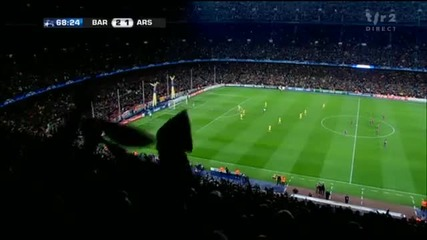 08.03.11 Барселона 2 - 1 Арсенал - Шаби (3 - 1)