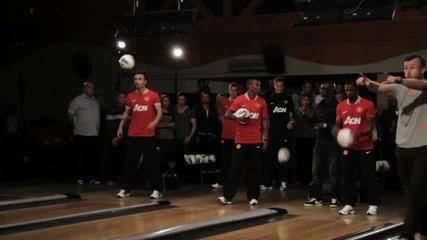 Бербатов в реклама с Манчестер Юнайтед - мейкинг