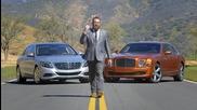 Двубой между джентълмени: Bentley Mulsanne Speed vs Mercedes Maybach!
