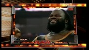 Raw 06/29/09 Randy Orton vs Mark Henry [ Gautlet match 3 on 1]*трета част*