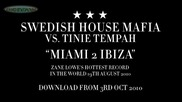 Swedish House Mafia Vs Tinie Tempah - Miami 2 Ibiza - Zane Lowe Hottest Record in the World