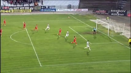 Гол на Мартин Камбуров за 1:0 срещу Хасково