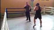 Ангел Ангелов (90 кг.) vs Пацо (140 кг.) Тренировъчен спаринг - Рунд 9