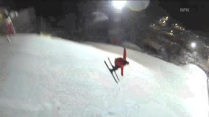 Телефон изпада при ски-скок - Смях